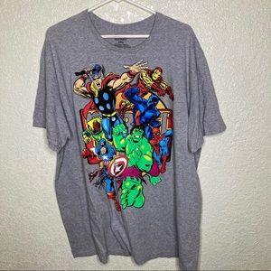 Marvel Mens Shirt XXL Hulk Captain America